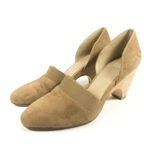 Eileen Fisher Bailey d'Orsay Suede Heel Pumps